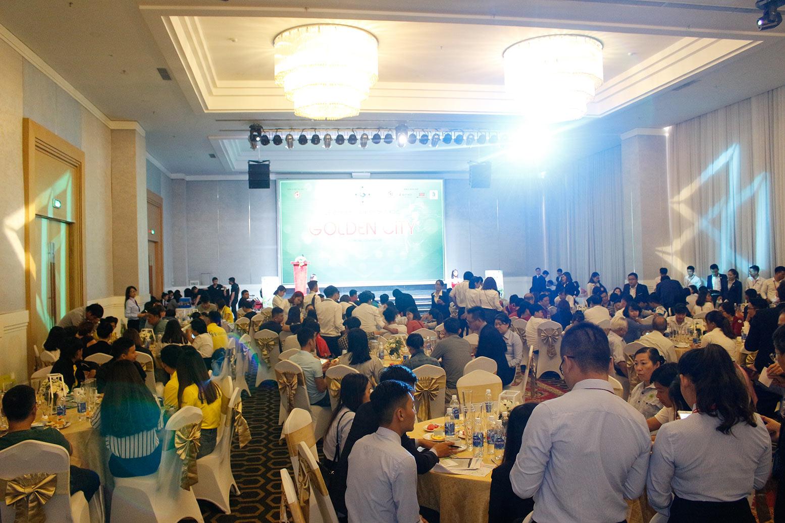 Hơn 90% giao dịch thành công tại buổi lễ công bố giai đoạn 1 KDC Golden City 12