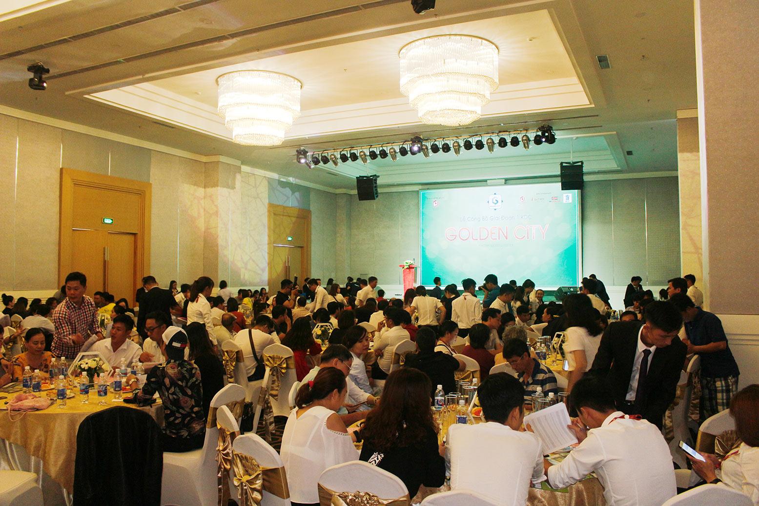 Hơn 90% giao dịch thành công tại buổi lễ công bố giai đoạn 1 KDC Golden City 15
