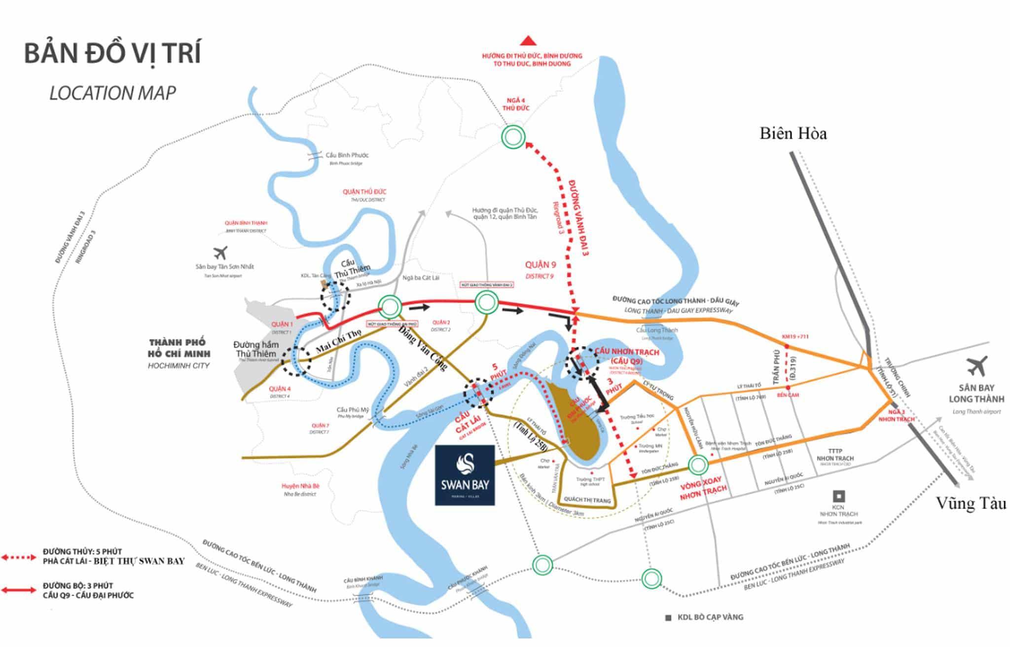No.1 Mua bán chuyển nhượng nhà phố biệt thự Swan Bay Nhơn Trạch 6